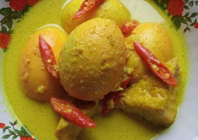 Opor Tahu Telur Ayam