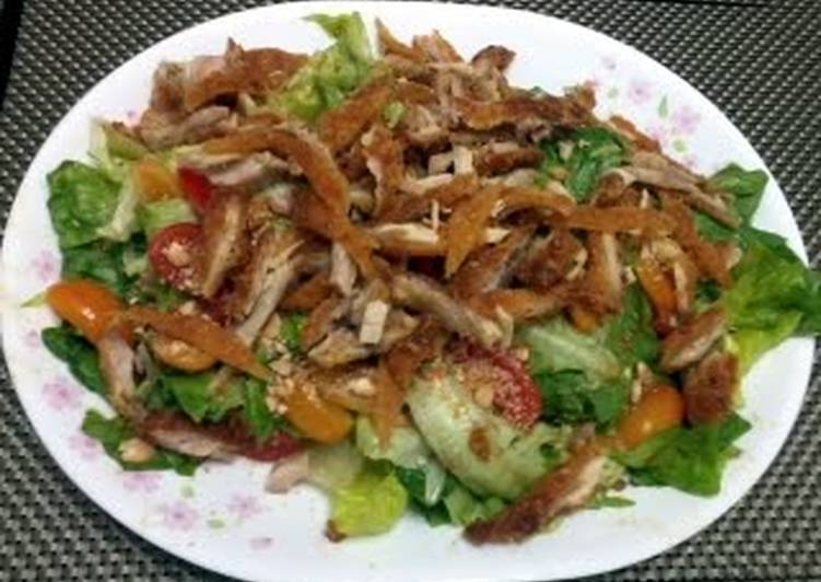 Easiest Way to Cook Appetizing LG FRIED CHICKEN  SALAD