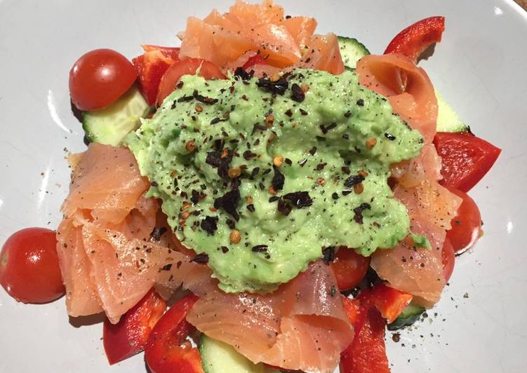 Smoked Salmon with Lime Guacamole