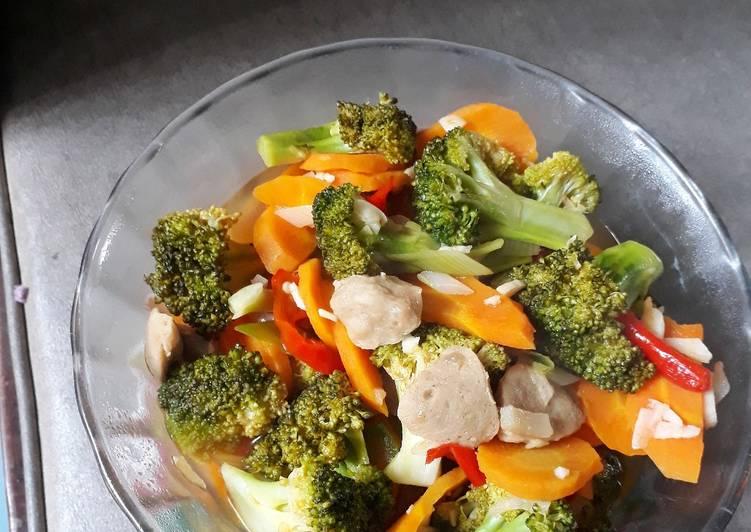 Tumis Brokoli Wortel Baso