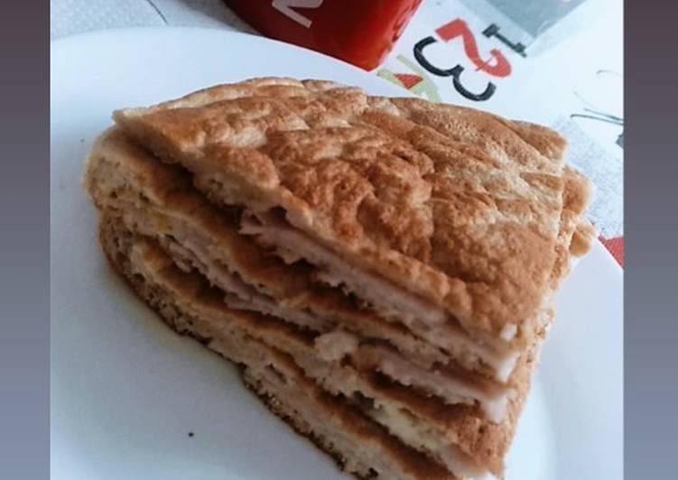 Tortita de avena con pavo y mozzarella