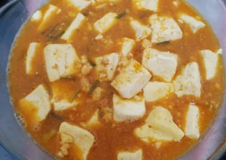 Mapo tofu udang cincang