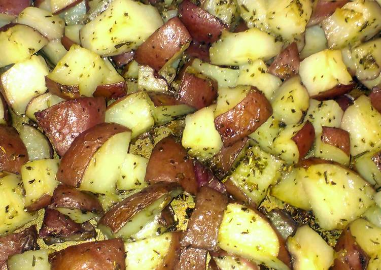 oven roasted herbed red potatoes