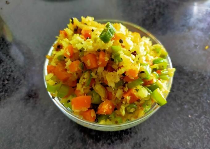 Beans-Carrot Upperi (Kerala Style)