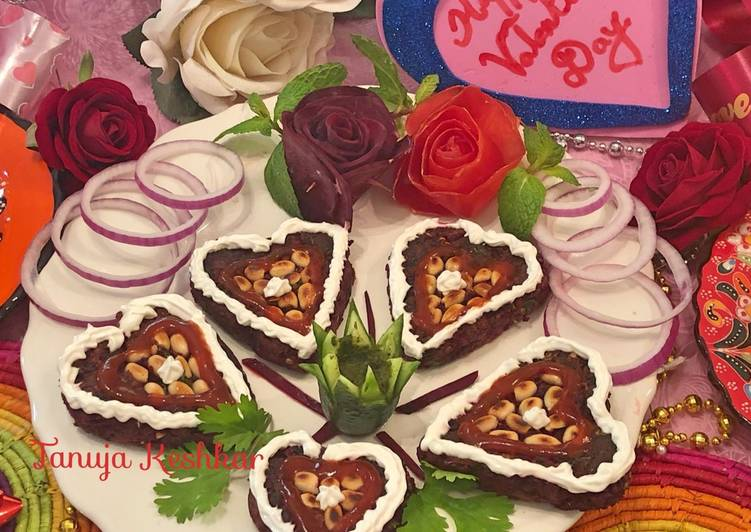 Recipe of Award-winning Beetroot heart with roasted peanuts