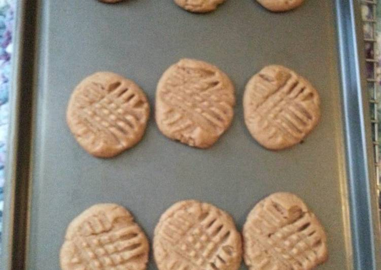 Recipe of Perfect Flourless Peanut Butter Cookies