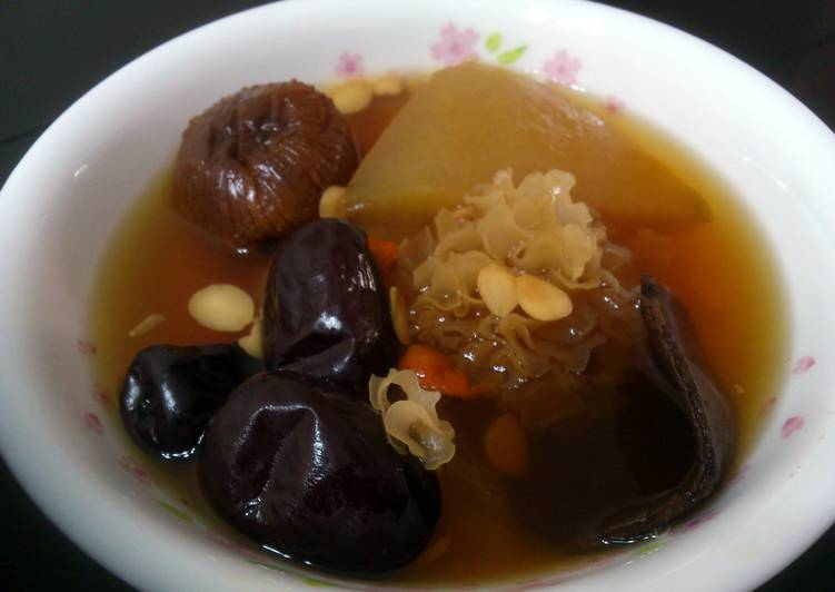 Wintermelon And Candy Dates Vegetarian Soup