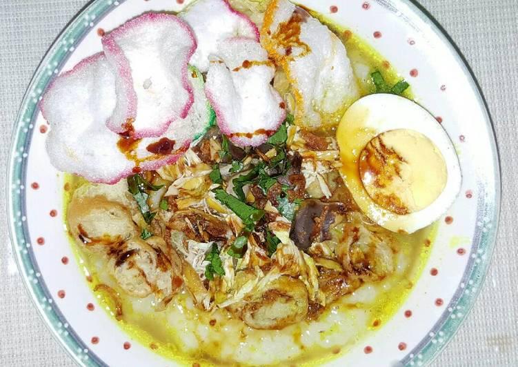 Bubur Ayam Kuah Kuning