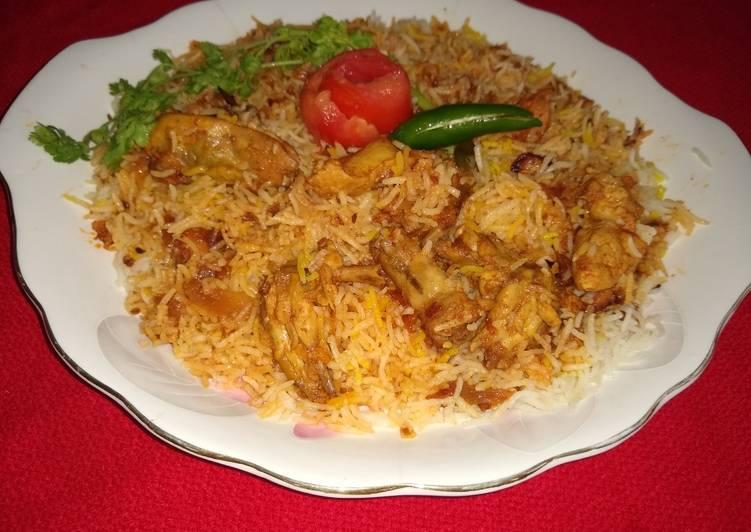 Awadhi chicken biryani