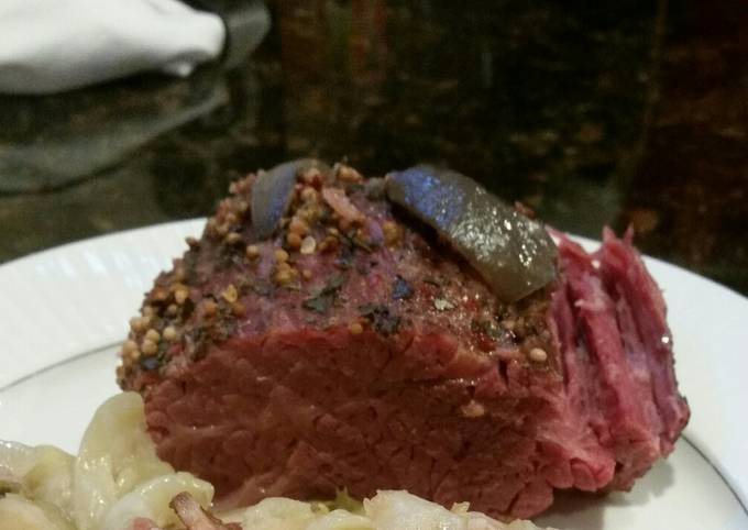 Brad's smoked and slow cooked corned beef in stout