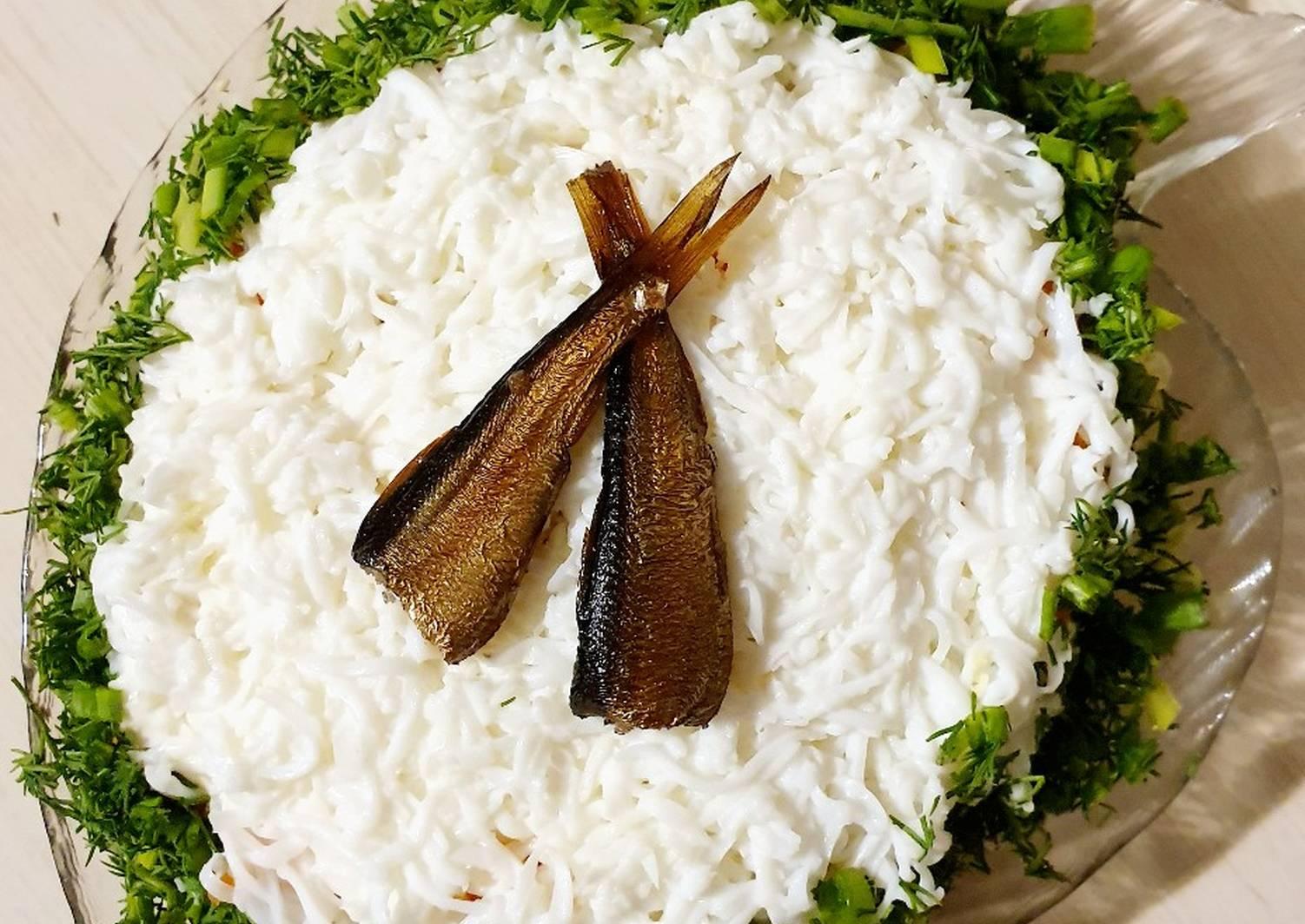 Салат со шпротами рецепты с фото