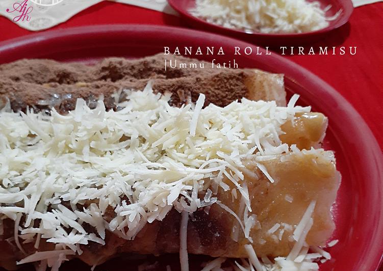 Banana roll tiramisu