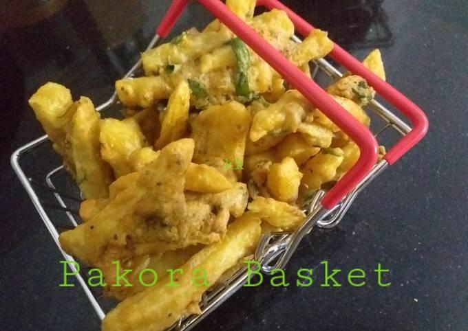 French fries pakora basket