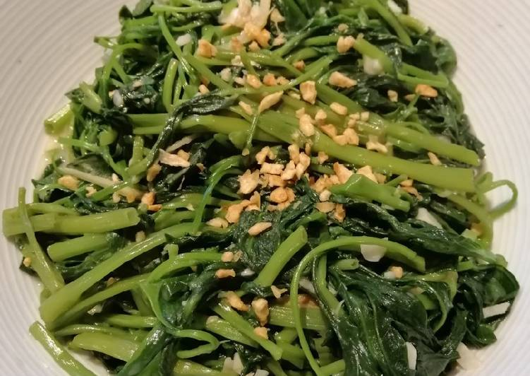 Easiest Way to Make Super Quick Homemade Water Spinach w/Preserved Chilli Tofu