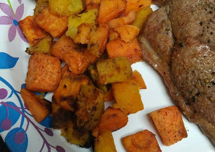 Roasted Sweet Potato and Butternut Squash
