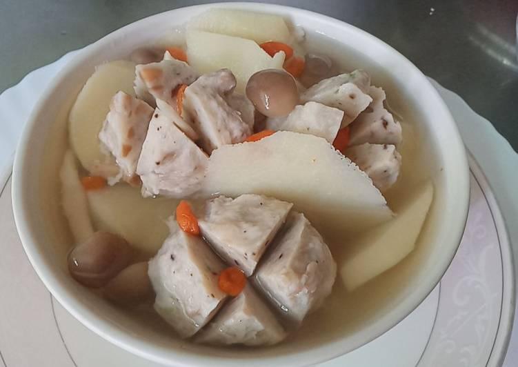 Soup rebung summer pentol jamur shimeji
