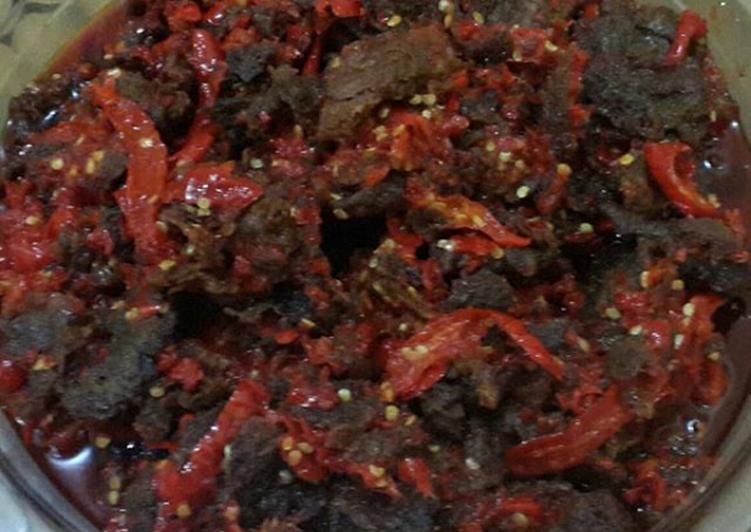 Sambalado daging sapi