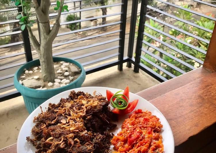 Empal daging sapi(gepuk)sambal bawang