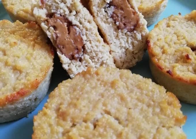 Muffins healthy et gluten free aux pommes (3 ingrédients + cœur)