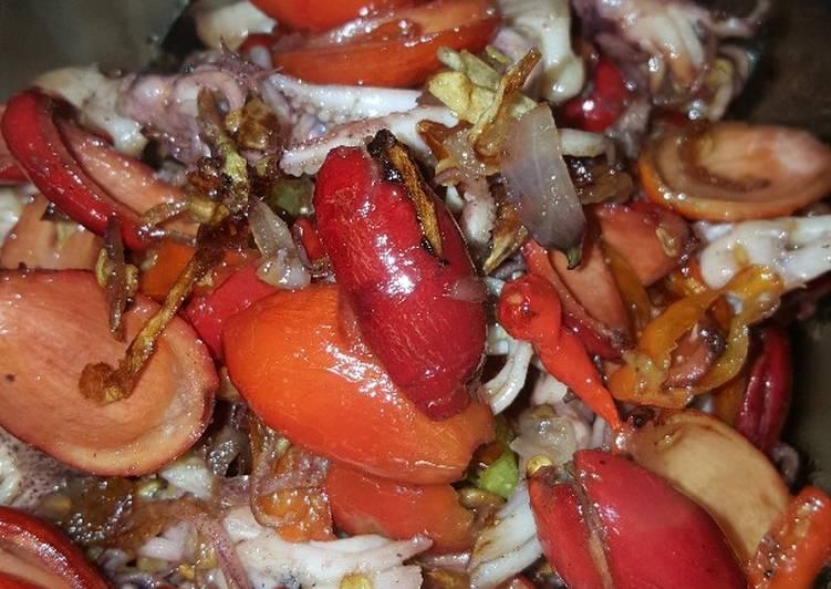 Resep Oseng Kulit Melinjo With Kepala Cumi Pedas Lezat Sekali Makan Siap Saji