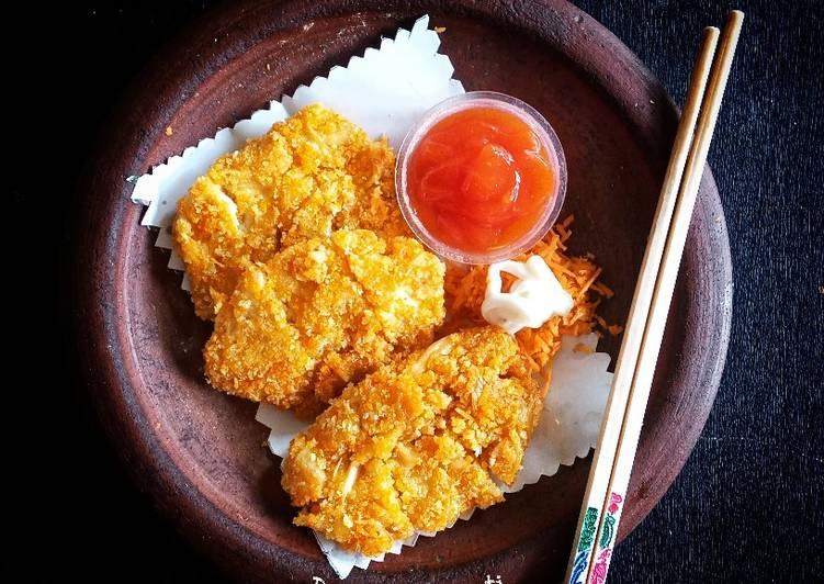 Oyster Mushroom Cheese Katsu