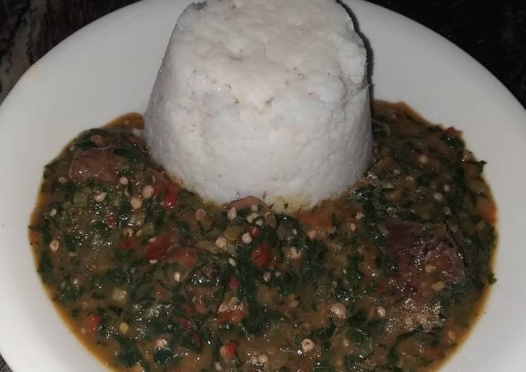 15 Minute Recipe of Ultimate Ewedu and okro soup