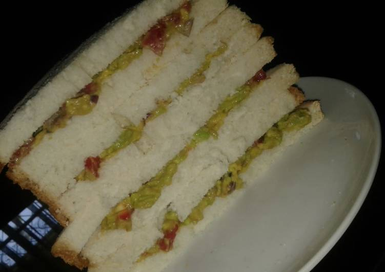 Recipe: Delicious My simple vegan Guacamole sandwich dressed with ginger