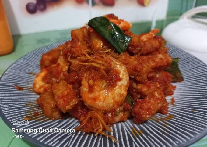 sambal udang tempe - resepenakbgt.com