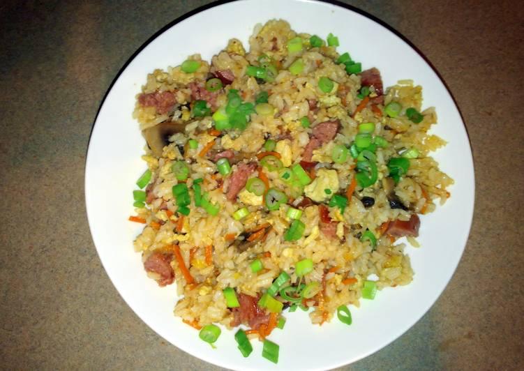 Recipe of Super Quick Homemade Amylynn's Sausage Mushroom Fried Rice