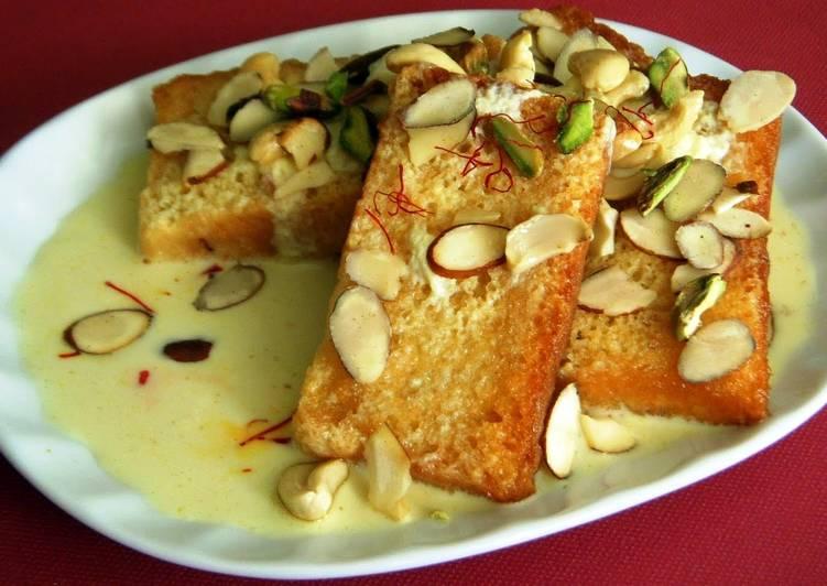 shahi Tukda (rich bread pudding)