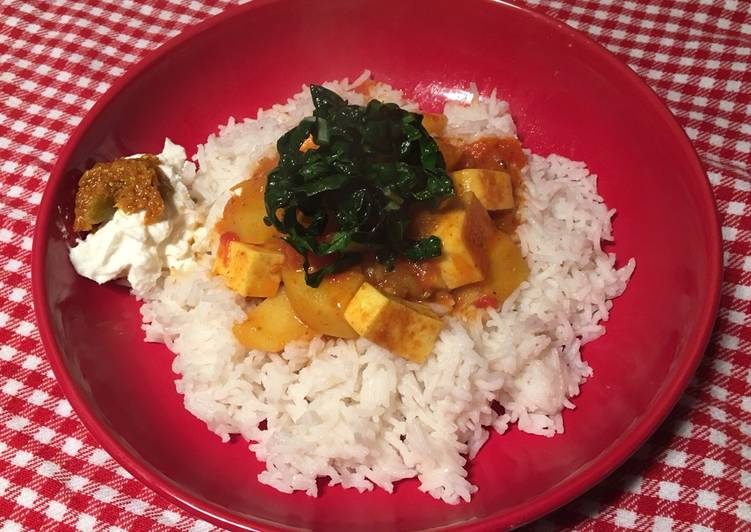 Paneer and potato curry