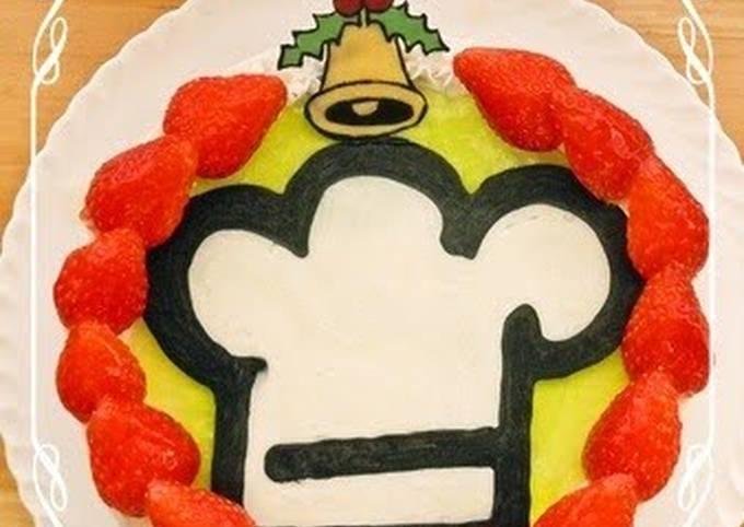 Cookpad Logo Christmas Wreath Cake