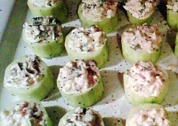 Shrimp Salad Cucumber Cups