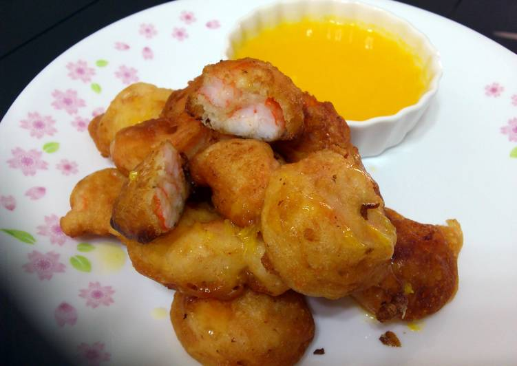 Recipe: Appetizing Beer Batter Prawn With Sauce Orange