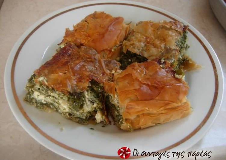 Spinach and cheese pie or vrehti