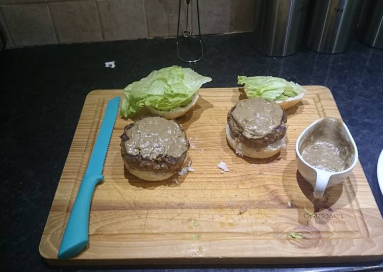 Home made burger patties
