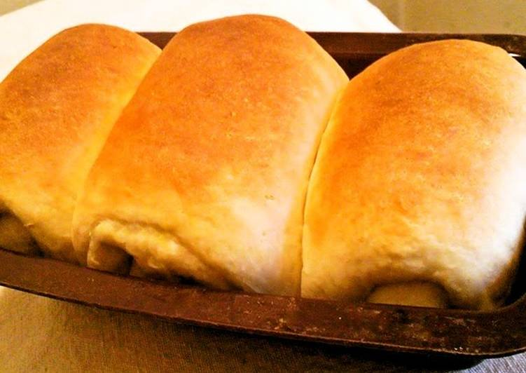 Recipe: Delicious Easy Homemade Bread Loaf Made in a 100 Yen Poundcake Pan