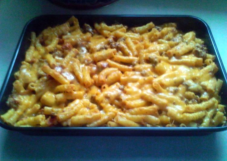 Recipe: Yummy bacon cheeseburger pasta