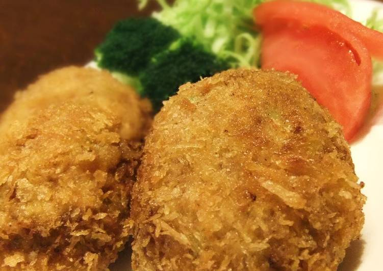 Healthier Tofu, Cabbage and Ground Meat Cutlets