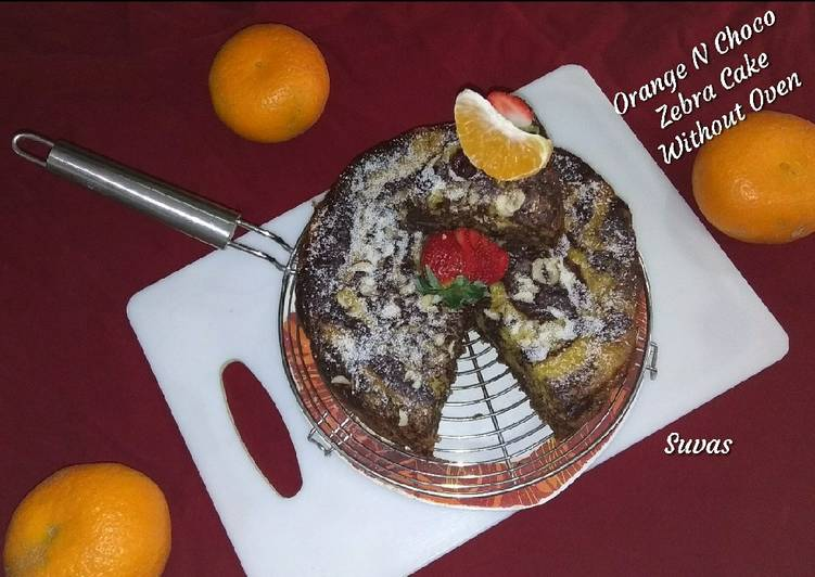 Recipe of Speedy Orange And Choco Zebra Cake Without Oven