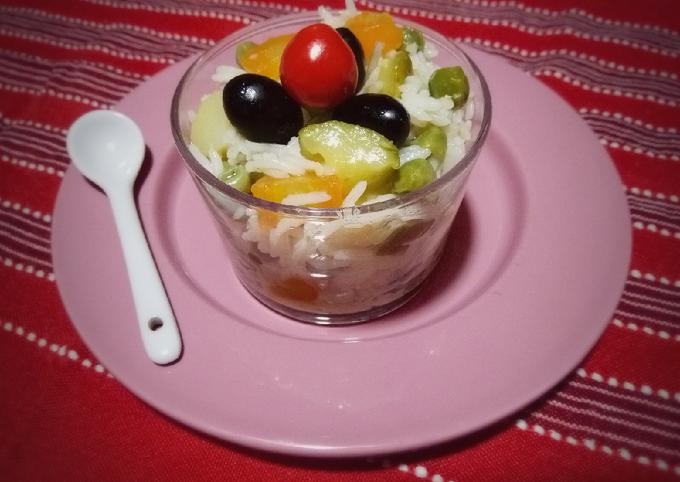 Salade de riz en verrines ????