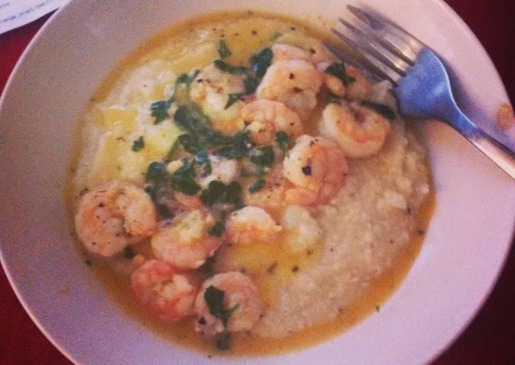 Lemon- Garlic Shrimp and Grits