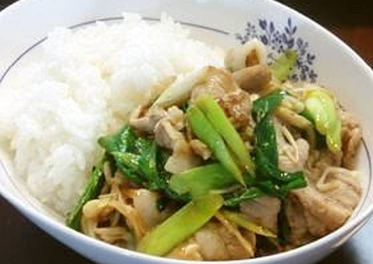 How to Improve Your Mood with Food Garlic Scapes and Pork Belly Fried in Oyster Sauce