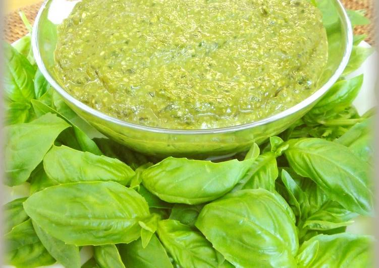 Easiest Way to Prepare Favorite Freezable Genovese Sauce (Pesto)