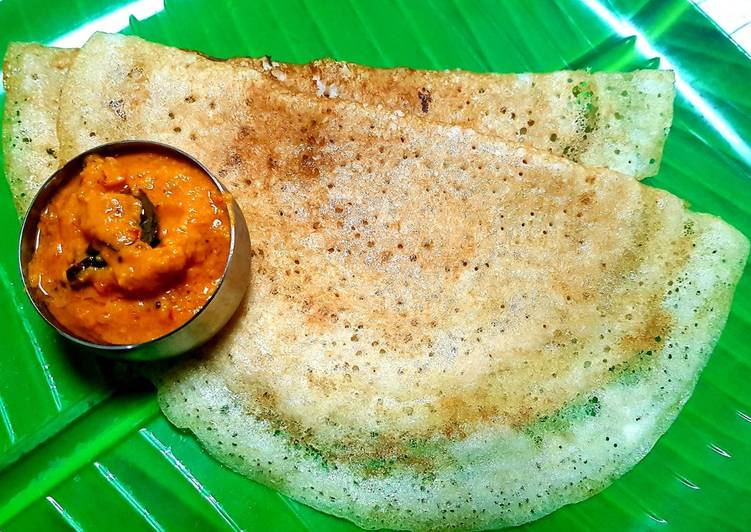 Leftover Rice Dosa (crepe)
