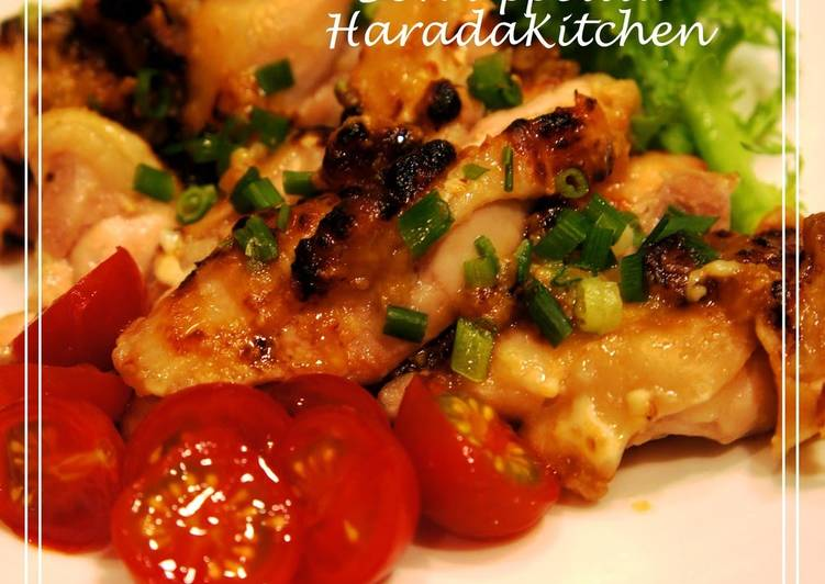 Just 3 Minutes of Prepping! Grilled Chicken Thigh with Miso Mayo Sauce