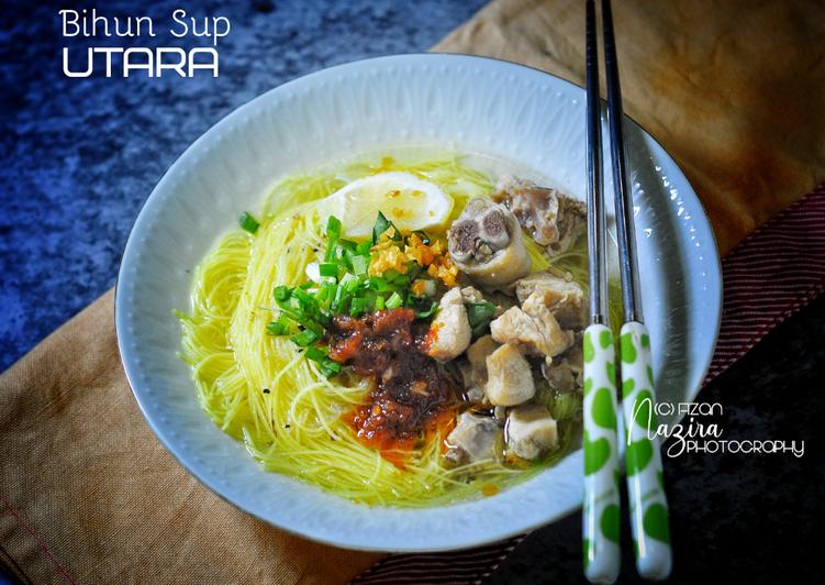 Bihun Sup Utara (versi ayam)