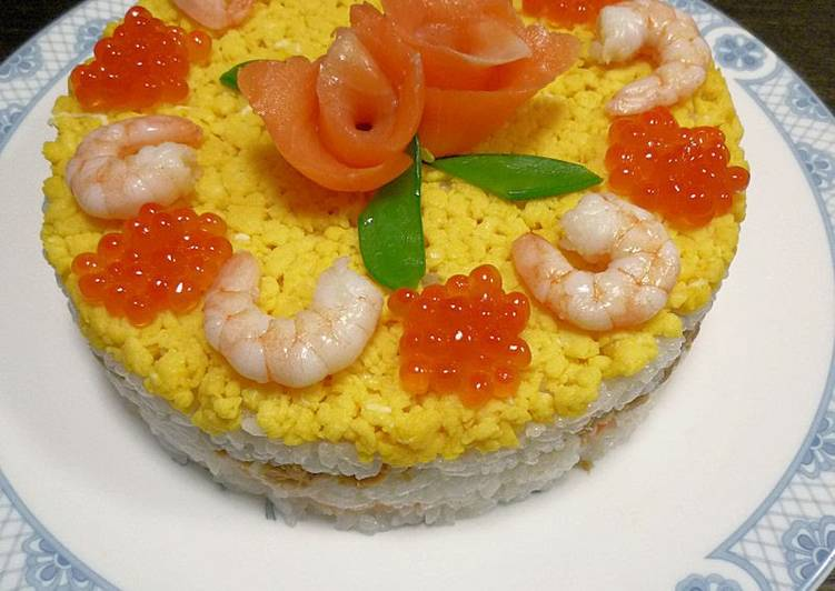 Sushi Cake For Hinamatsuri (Girl's Day Festival)