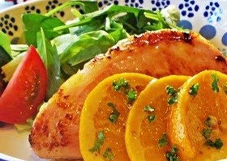 Ham Steak with Orange Butter