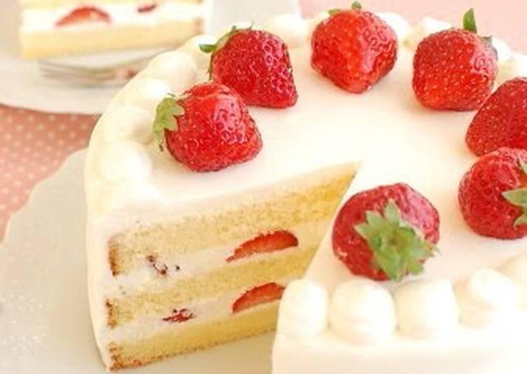 Magnificent Indulgent Creamy Strawberry Shortcake Recipe By Cookpad Japan Personalised Birthday Cards Veneteletsinfo